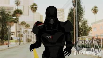 ME2 Shepard Default N7 Armor with Death Mask для GTA San Andreas