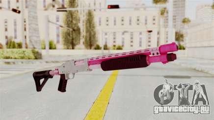 GTA 5 Pump Shotgun Pink для GTA San Andreas
