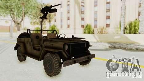MGSV Jeep для GTA San Andreas вид справа