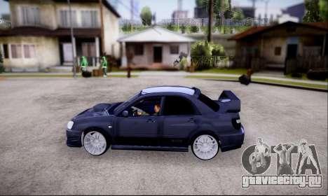 Subaru impreza WRX STi LP400 v2 для GTA San Andreas вид справа