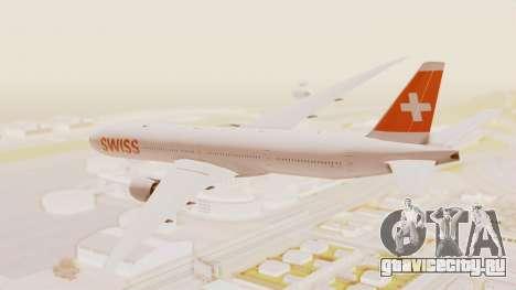 Boeing 777-300ER Swiss International Air Lines для GTA San Andreas вид слева