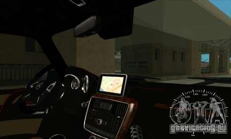 Mercedes G63 Biturbo для GTA San Andreas салон