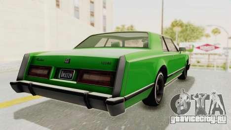 GTA 5 Dundreary Virgo Classic Custom v1 для GTA San Andreas вид слева