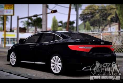 Hyundai Grandeur 2015 STOCK для GTA San Andreas вид слева