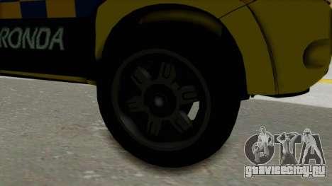 Toyota Hilux Expressway Patrol для GTA San Andreas вид сзади