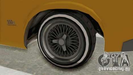 GTA 5 Declasse Sabre GT2 A IVF для GTA San Andreas вид сзади
