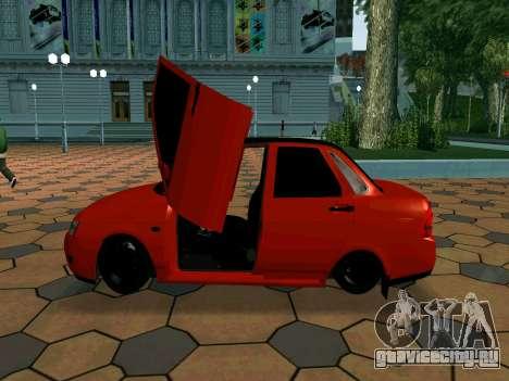 Lada Priora Lambo для GTA San Andreas вид изнутри
