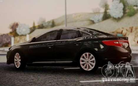 Hyundai Grandeur 2015 STOCK для GTA San Andreas вид справа