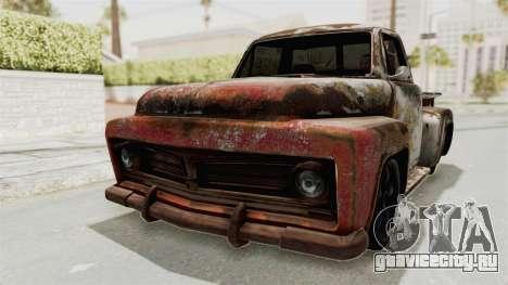 GTA 5 Slamvan Stock PJ2 для GTA San Andreas вид сзади