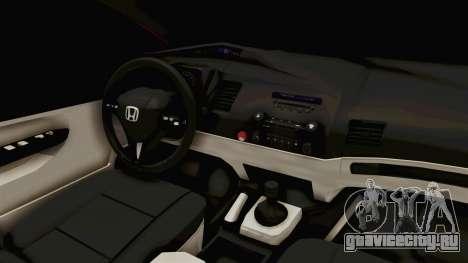 Honda Civic FD6 для GTA San Andreas вид изнутри