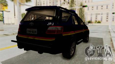 Toyota Fortuner JPJ Dark Blue для GTA San Andreas вид сзади слева