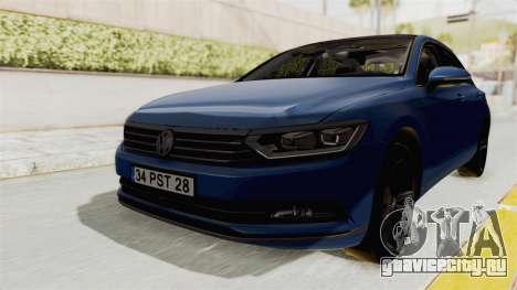 Volkswagen Passat B8 2016 Highline IVF для GTA San Andreas вид справа