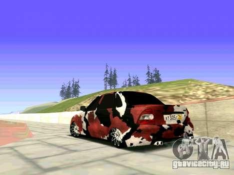 Lada Priora Камуфляж для GTA San Andreas вид слева