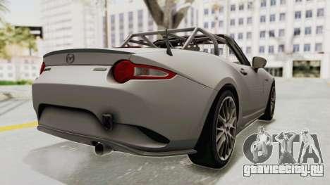 Mazda MX-5 Cup 2015 v2.0 для GTA San Andreas вид сзади слева