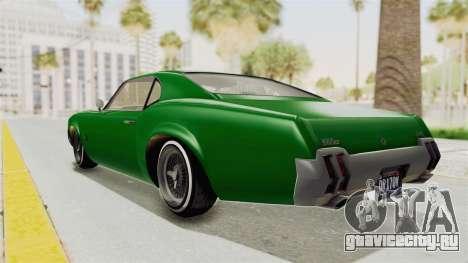 GTA 5 Declasse Sabre GT2 для GTA San Andreas вид слева