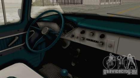 Chevrolet Apache 1958 для GTA San Andreas вид изнутри