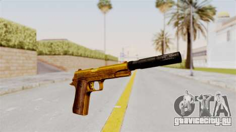 Silenced M1911 Gold для GTA San Andreas второй скриншот