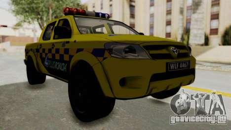 Toyota Hilux Expressway Patrol для GTA San Andreas