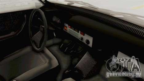 Dacia 1310 TX 1986 для GTA San Andreas вид изнутри