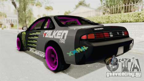 Nissan Silvia S14 Drift Monster Energy Falken для GTA San Andreas вид слева