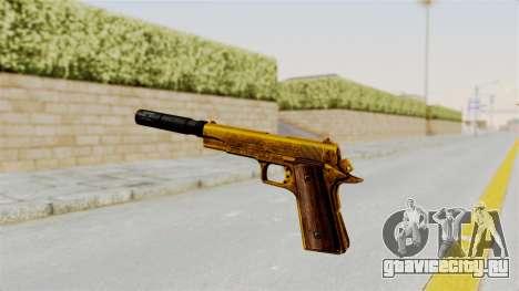 Silenced M1911 Gold для GTA San Andreas третий скриншот