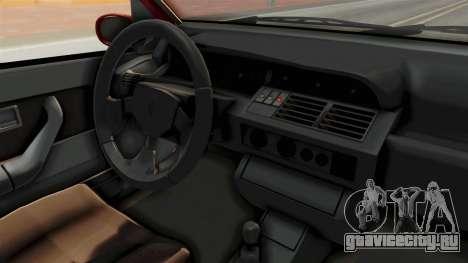 Renault Clio Williams для GTA San Andreas вид изнутри