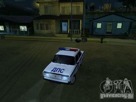VAZ 2107 DPS для GTA San Andreas вид сзади