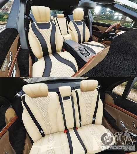 Mercedes-Benz S500 (W222) [yokohama] v2.1 для GTA 5 руль и приборная панель