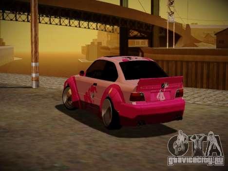 BMW M3 E36 Pinkie Pie для GTA San Andreas вид сверху