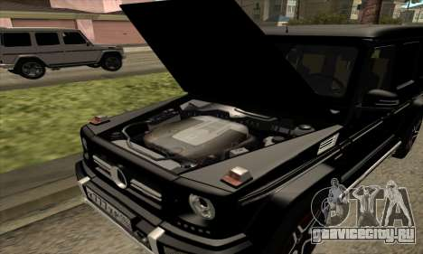 Mercedes G63 Biturbo для GTA San Andreas вид сверху