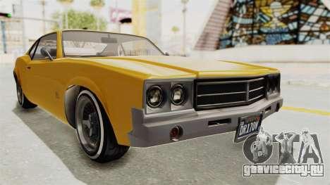 GTA 5 Declasse Sabre GT2 A IVF для GTA San Andreas вид справа