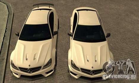 Mercedes-Benz C63 AMG Black-series для GTA San Andreas вид сбоку