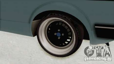 Volkswagen Golf 1 Cabrio VR6 для GTA San Andreas вид сзади