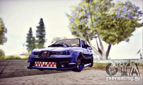 Subaru Impreza WRX STI Dark Knight для GTA San Andreas