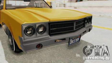 GTA 5 Declasse Sabre GT2 A IVF для GTA San Andreas вид сбоку