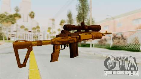 M14EBR Gold для GTA San Andreas второй скриншот