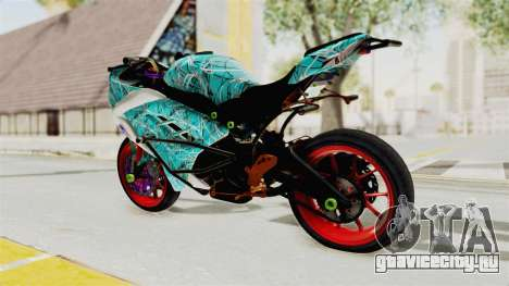 Kawasaki Ninja 250FI Stunter для GTA San Andreas вид слева