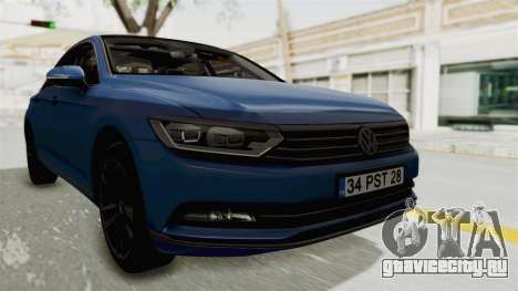 Volkswagen Passat B8 2016 Highline IVF для GTA San Andreas