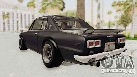 Nissan Skyline KPGC10 1971 Camber для GTA San Andreas вид слева