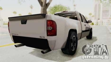 GMC Sierra 2010 для GTA San Andreas вид сзади слева