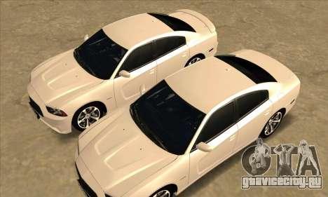 Dodge Charger для GTA San Andreas вид сбоку