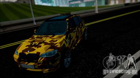 BMW X5M ( Davidich ) для GTA San Andreas вид изнутри