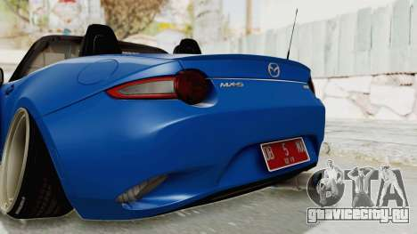 Mazda MX-5 Slammed для GTA San Andreas вид снизу