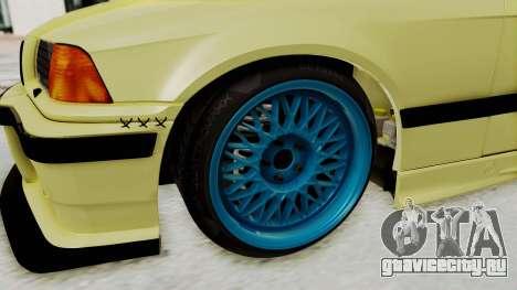 BMW M3 E36 Drift для GTA San Andreas вид сзади