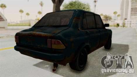 Zastava 1100 Rusty для GTA San Andreas вид сзади слева