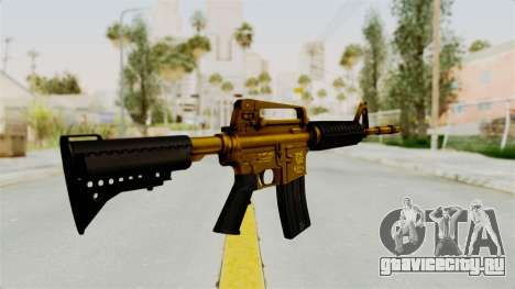 M4A1 Gold для GTA San Andreas второй скриншот