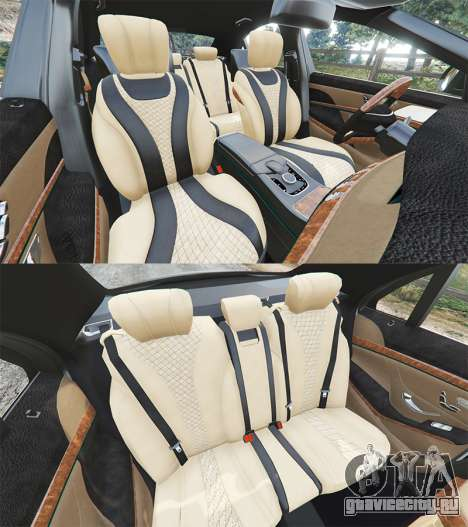 Mercedes-Benz S500 (W222) [michelin] v2.1 для GTA 5 руль и приборная панель