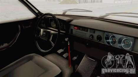 Dacia 1310 TX 1985 для GTA San Andreas вид изнутри