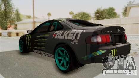 Toyota Celica GT Drift Monster Energy Falken для GTA San Andreas вид сзади слева