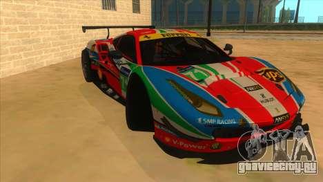 2016 Ferrari 488 GTE для GTA San Andreas вид сзади
